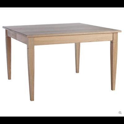 Table Carrée PAPILLON en Chêne Oxydé L 140 cm
