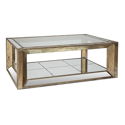 Table Basse Rectangulaire MIROIR  L 130 x P 90 x H 47 cm