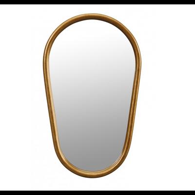 Miroir TRAPEZE Oval Doré