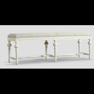Banquette LOUIS XVI Blanc L 145 cm