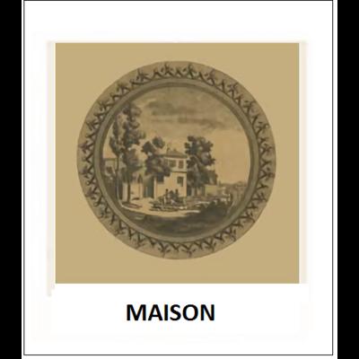 Gravure MAISON (choisir votre forme d'abat-jour et fond de couleur)