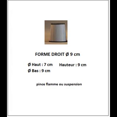 """Forme """"DROIT 9 cm"""""""
