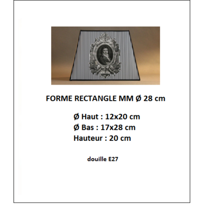 "Forme ""Rectangle Ø 28 cm"""