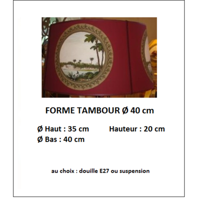 "Forme ""Tambour Ø 40 cm"""