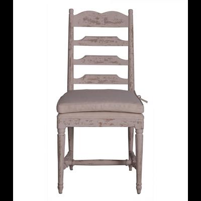 Chaise BARBETTE Finition Antique et Coussin L 75 cm