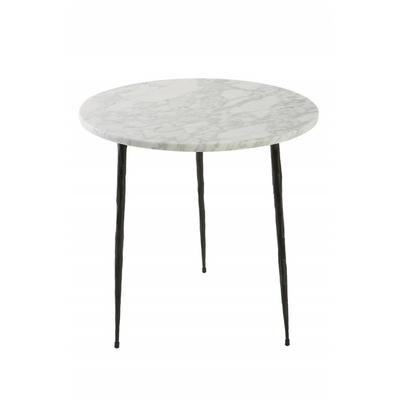 Table Basse Marbre BLANC ou Bout de Canapé 3 Tailles