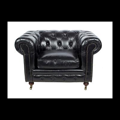 Fauteuil EDINBURGH Noir L 120 cm