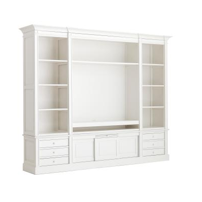 Meuble TV Cupboard DRESDEN II BLANC L 266 cm