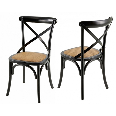 Chaise NAVANO Boiserie Noire
