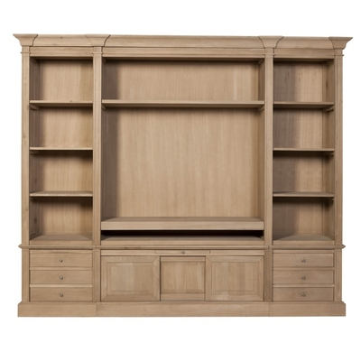 Meuble TV Cupboard DRESDEN CHENE L 268 cm