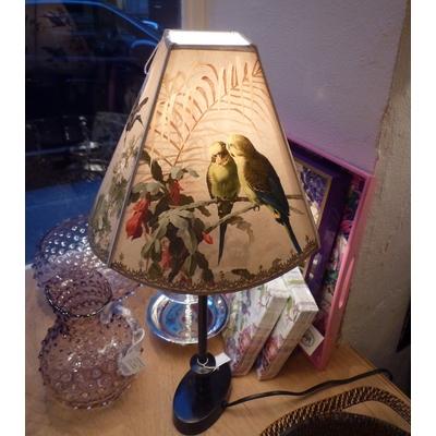"""Abat-Jour """"Oiseaux Fleurs Perroquets"""" Pagode GM Ø24 cm"""