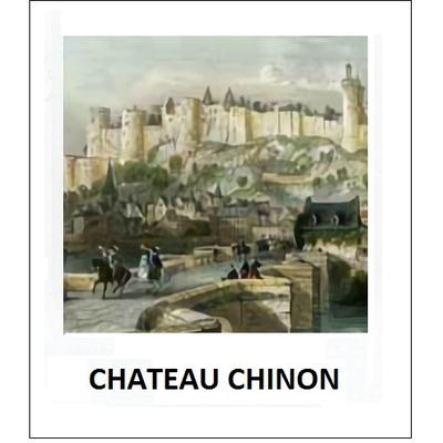 Gravure CHATEAU CHINON (choisir votre forme d'abat-jour et fond de couleur)