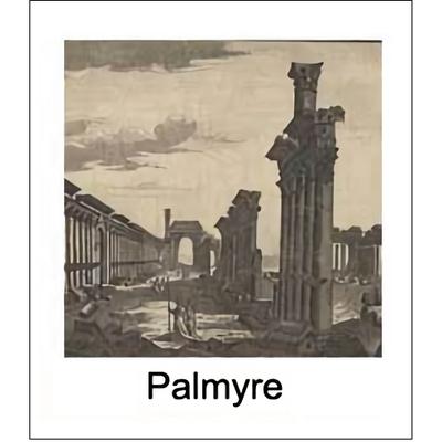Gravure PALMYRE (choisir votre abat-jour et fond de couleur)
