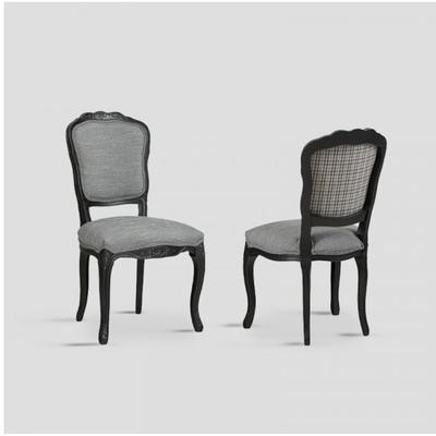 Chaise GRIGIO Noir et Tartan