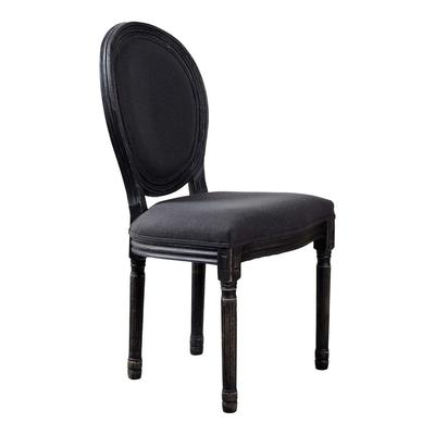 Chaise MEDAILLON Noir Assise Tissu
