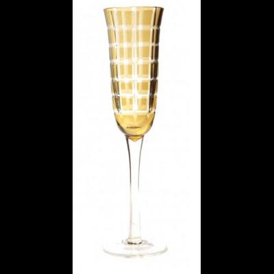 """6 Flûtes Champagne """"CARRE"""" Ambre ou Rubis"""