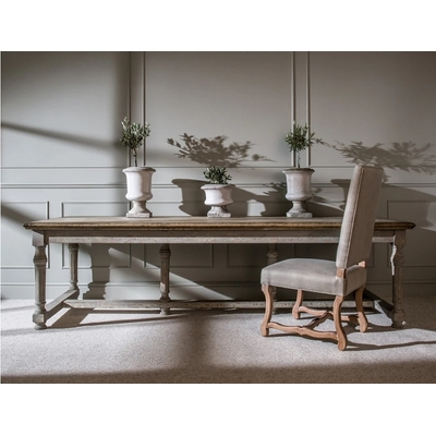 Table Coloniale Gris Antique L 280