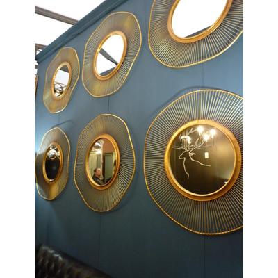 Miroir Lotus Ø 93 cm Doré