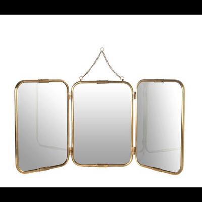 Miroir Tryptique 3 Faces Cuivre