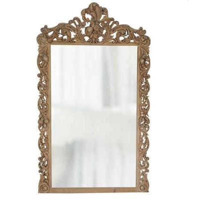 Miroir Sculpté OSMOND en Orme L 116 cm