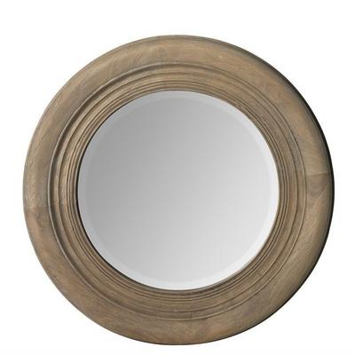 Miroir Rond En Bois Ø 50cm