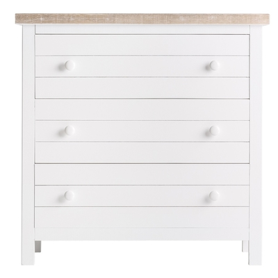 Commode Blanche 3 Tiroirs ILE DE RE L 80 cm