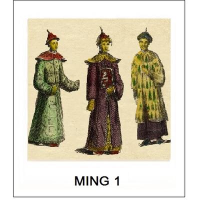 Gravure MING 1 (Choisir votre forme d'abat-jour et fond de couleur)