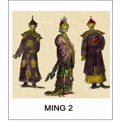 Abat-Jour MING 2 (Choisir votre forme d'abat-jour et fond de couleur)