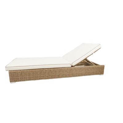 Sofa SALMA Réglable L 202 cm (Avec Coussin Blanc)