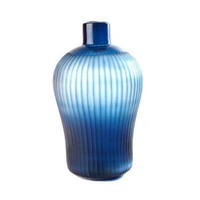 Vase Epaule Rayures Bleues GM