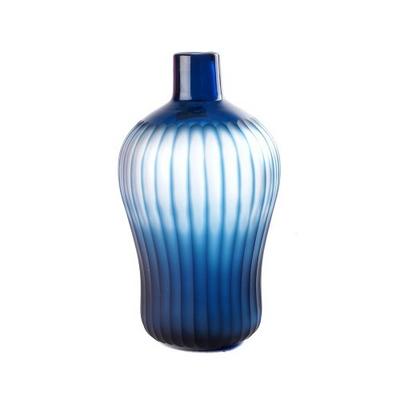 Vase Epaule Rayures Bleues PM