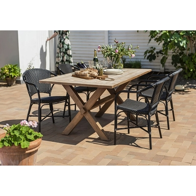 Table COLONIALE en TECK L 160 cm x P 100 cm (6 Personnes)