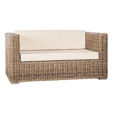Canapé de Jardin en Rotin BOLSINO L 160 cm (avec coussins)