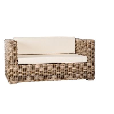 Canapé de Jardin en Rotin BOLSINO L 200 cm (avec coussins)