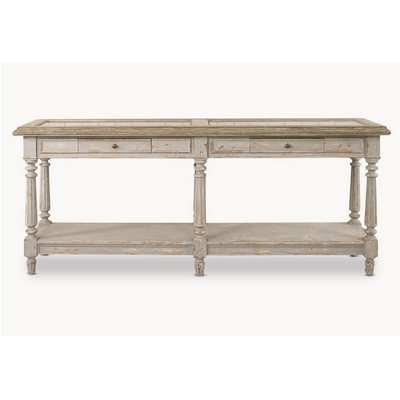 Console LARGE GREY OAK et PIERRE L 200 cm