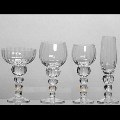 6 Verres A Vin VENISE Soufflé Bouche