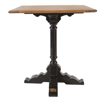 Table BISTROT Pieds Noirs 60x60 cm