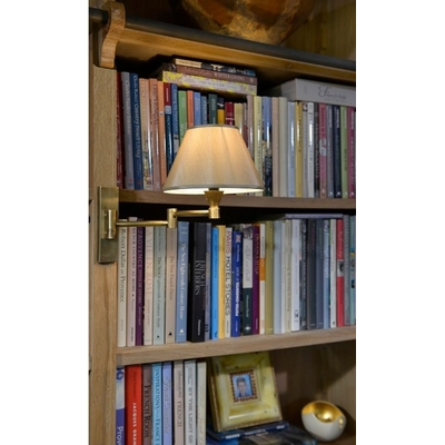 Applique Laiton Doré Mat pour Chevet ou Bibliothèque