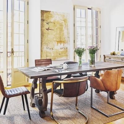 Table SEVILLE Chêne Gris L 230 cm