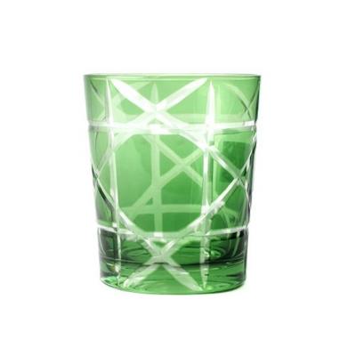 """6 Verres Eau ou Whisky """"BAMBOU"""" Vert Emeraude"""