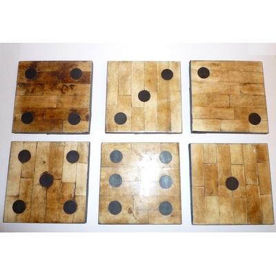 Dessous De Verre DOMINOS 10x10 (les 6)