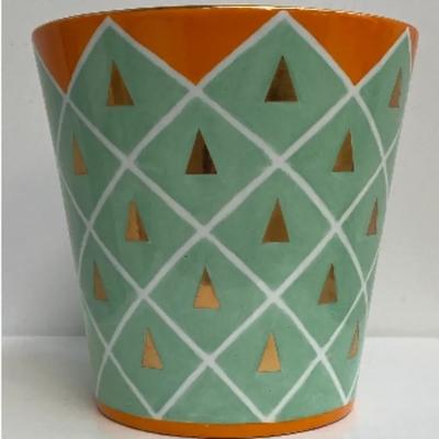 Cache Pot Porcelaine TRIANGLE OR Ø 16.5 cm