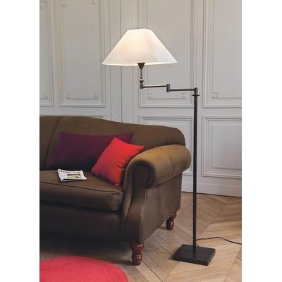 Lampadaire KELLER Noir Mat Bras Articulé H 122-140 cm