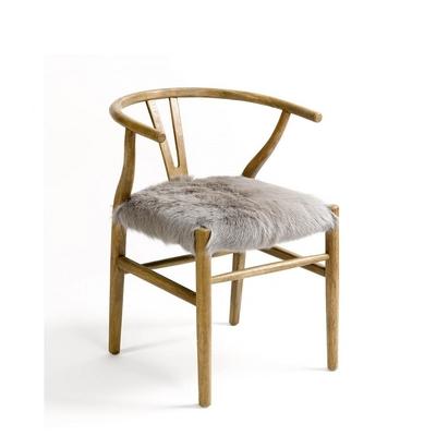 Chaise En Chêne MEGEVE Assise Cuir