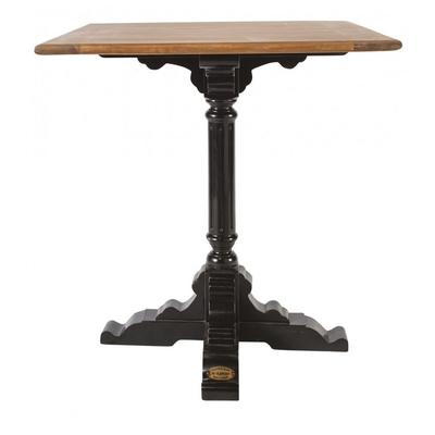 Table BISTROT Pieds Noirs 70*70 cm Hauteur 76 cm