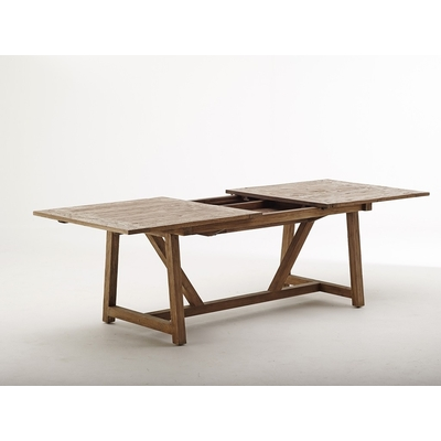 Table COLONIALE en TECK Extensible 200/280 cm (14 personnes)