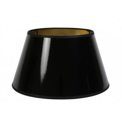 Abat Jour ROND Laqué Noir/Or Ø 20 cm