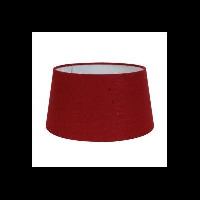 Abat-Jour Rond  Lin Rouge Ø 25 cm