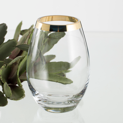 Vase PYKA Bord Doré H 20 cm