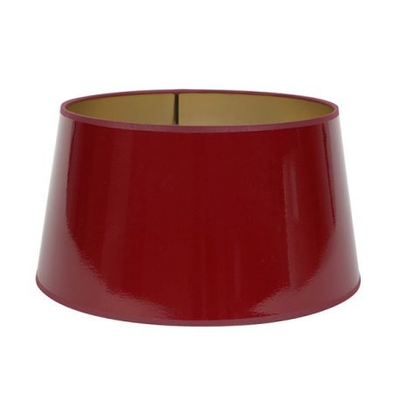 Abat-Jour ROND Laqué Rouge/Or Ø 30 cm